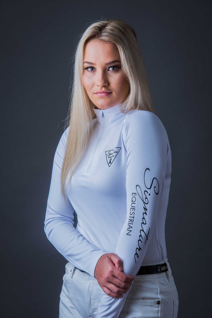 Long sleeve Outdoor Shirt - White | Signature Equestrian QLD