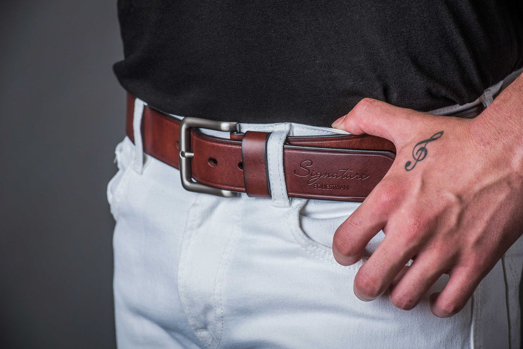 Leather Jeans belt | Signature Equestrian QLD