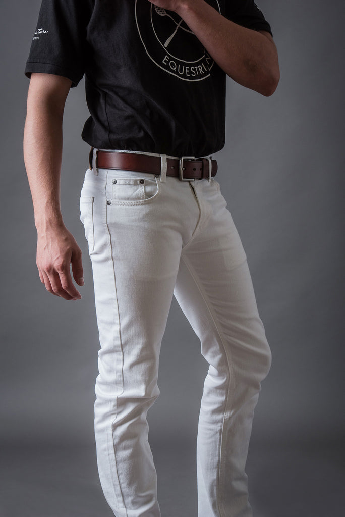 Men's White stretch Riding Jeans | Signature Equestrian QLD