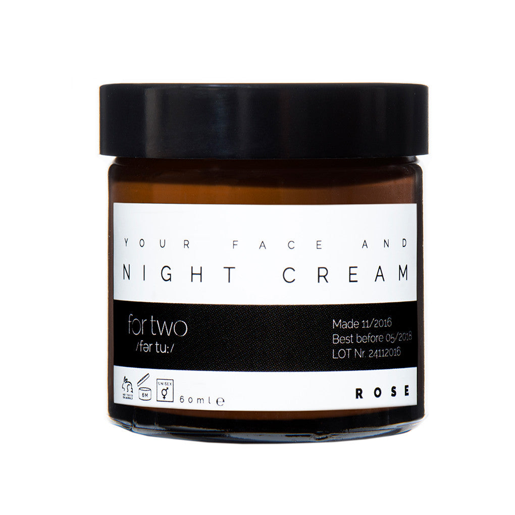NIGHT CREAM ROSE - FOR TWO
