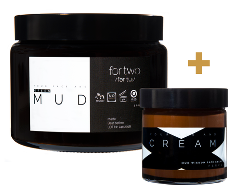 BUNDLE<br> FRESHWATER GREEN MUD <br>& MUD WISDOM FACE CREAM