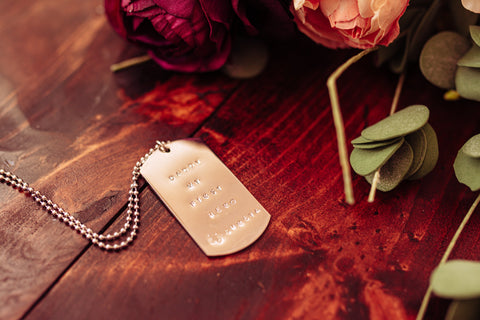 Personalised dog tags
