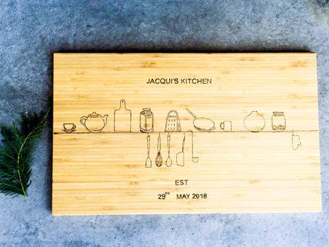 Personalised wooden cutting board