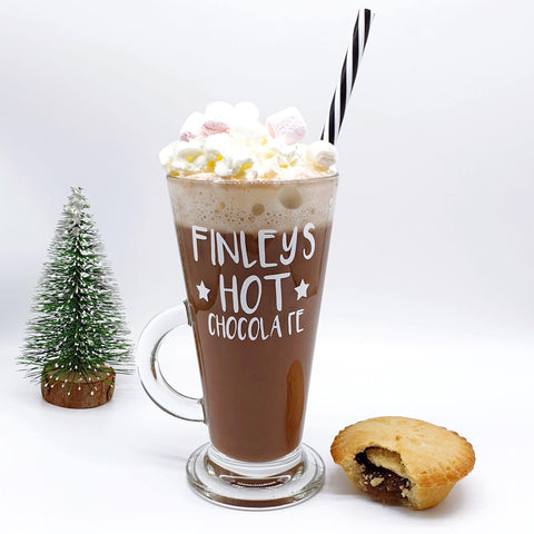 Hot Chocolate Named Glass Mug