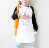 Unicorn Pink Personalised Apron - Mugged Write Off