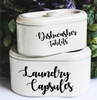 Personalised Stacking Tins with Custom Text - Mugged Write Off