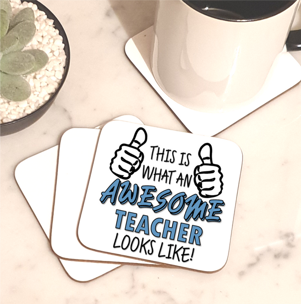 Awesome Teacher Coaster - Mugged Write Off