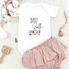 Baby Surname Coming Soon Short Sleeve BabyGrow Classic - Mugged Write Off