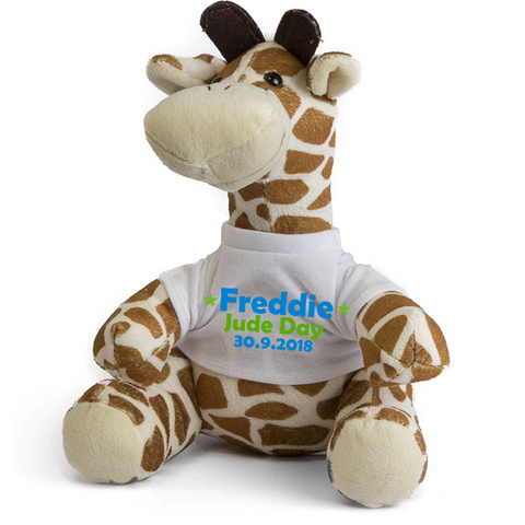 New Baby Giraffe Teddy Birth Details - Mugged Write Off
