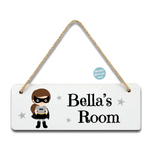 Batgirl Super Hero Room Sign - Mugged Write Off