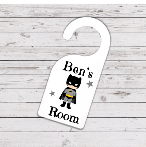 Batman Super Hero Door Hanger - Mugged Write Off