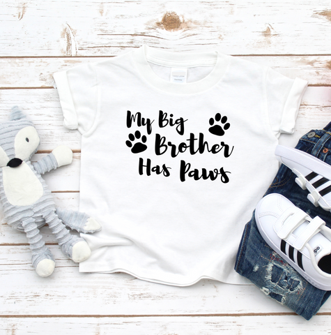 My Big Brother Has Paws T Shirt