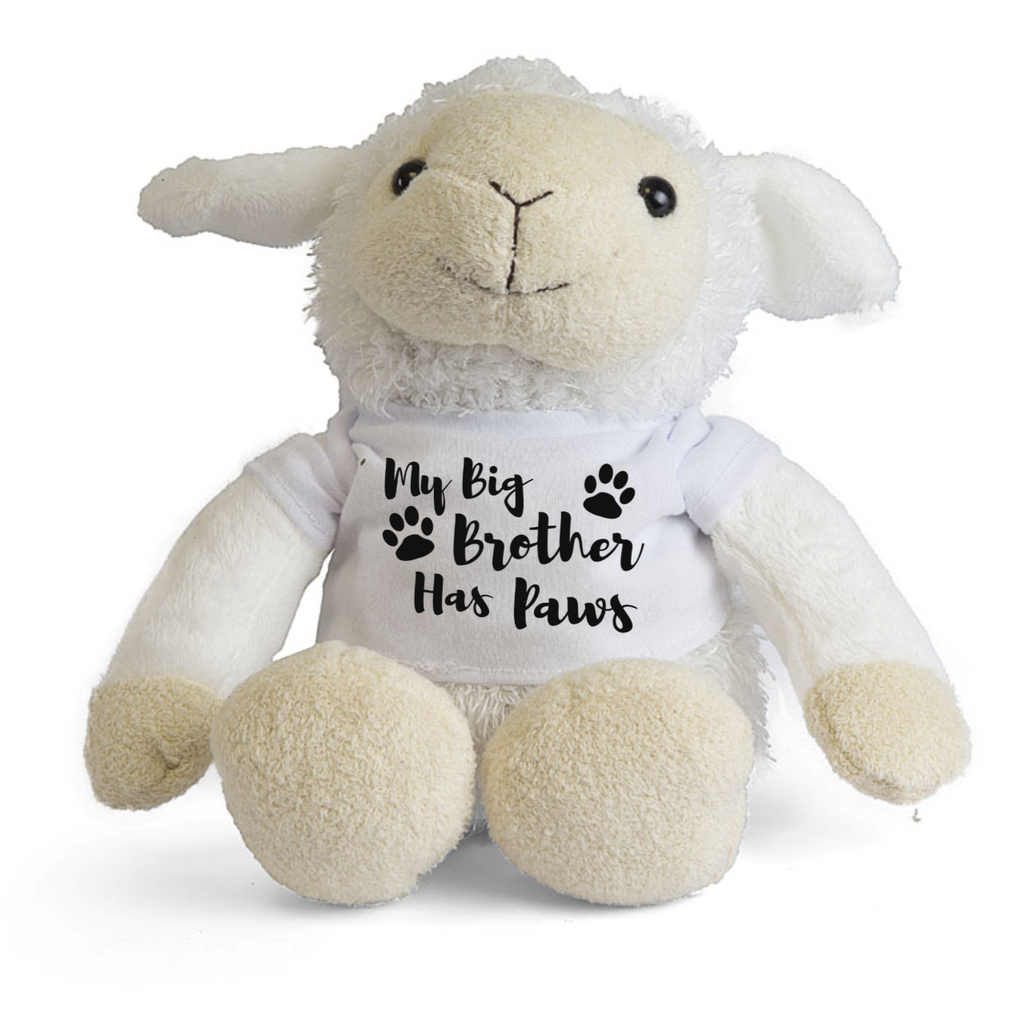 My Big Brother Big Sister Has Paws Lamb Teddy - Mugged Write Off