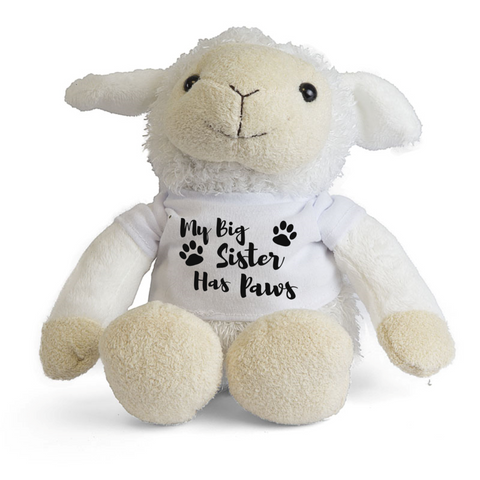 My Big Brother Big Sister Has Paws Lamb Teddy