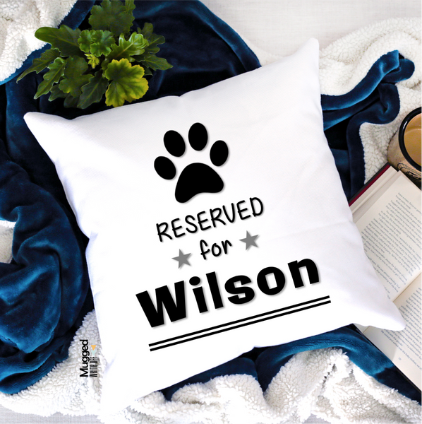 Reserved For Dog Cushion - Mugged Write Off