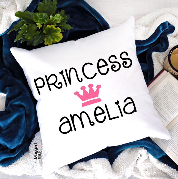 Princess Personalised Cushion - Mugged Write Off