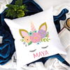 Unicorn Personalised Cushion - Mugged Write Off