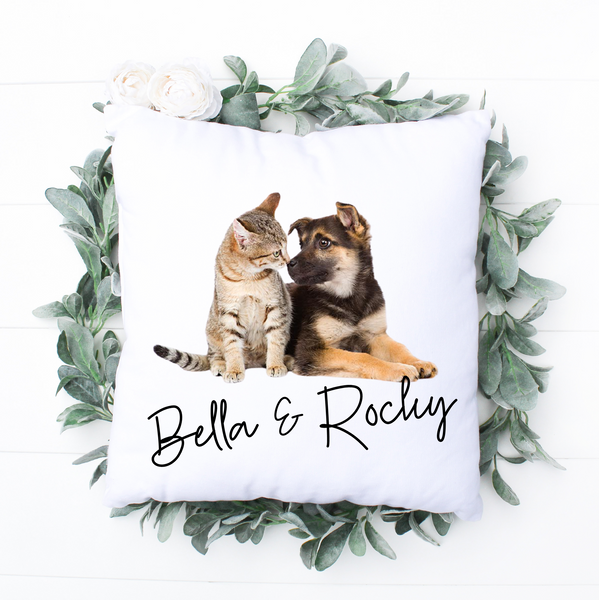 Photo Pet Personalised Cushion - Mugged Write Off Limited