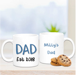 Dad Est Personalise Date Mug - Mugged Write Off
