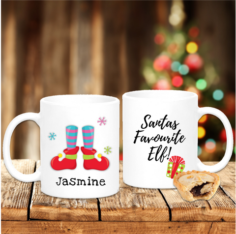 Santa's Favourite Elf Personalised Christmas - Mugged Write Off