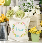 Personalised Floral Frame Tote Bag - Mugged Write Off