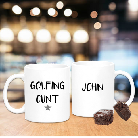 Golfing Cunt Mug - Mugged Write Off