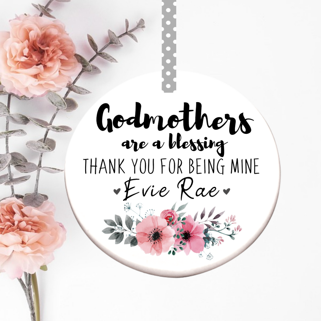 Godmother Thank You Ceramic Decoration - Mugged Write Off