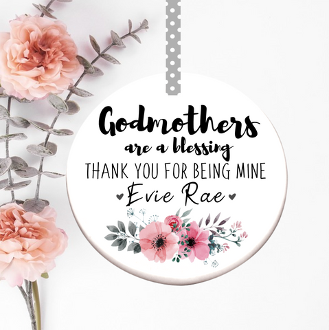 Godmother Thank You Ceramic Decoration