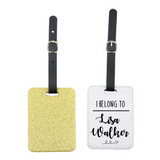 I Belong To Glitter Luggage Tag - Mugged Write Off