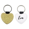 Glitter Heart Name Keyring - Mugged Write Off