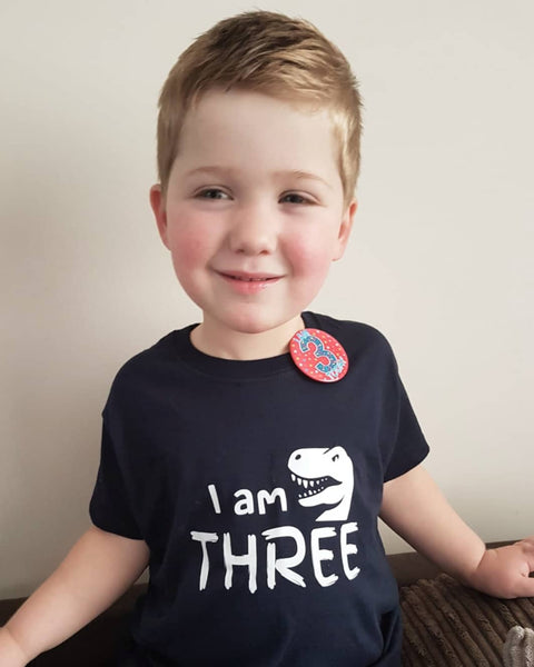 I Am Age Childs Dinosaur T Shirt - Mugged Write Off