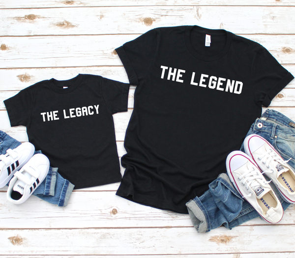 The Legend The Legacy Matching T Shirts - Mugged Write Off