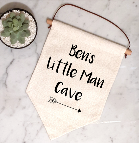 Personalised Little Man Cave Flag
