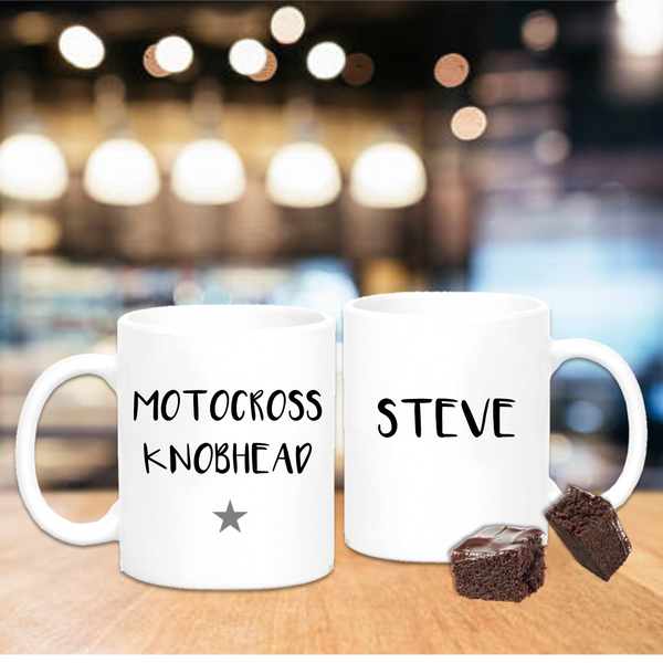 Moto Cross Knobhead Mug - Mugged Write Off