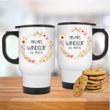 Mr & Mrs Floral Wreath Wedding Date Mug Set - Mugged Write Off
