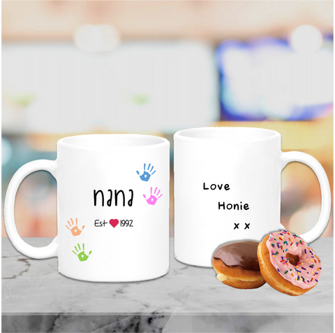 Nan Grandparent Est Date Mug - Mugged Write Off