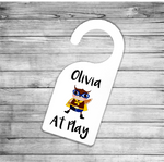 Owl At Play Personalised Door Hanger - Mugged Write Off
