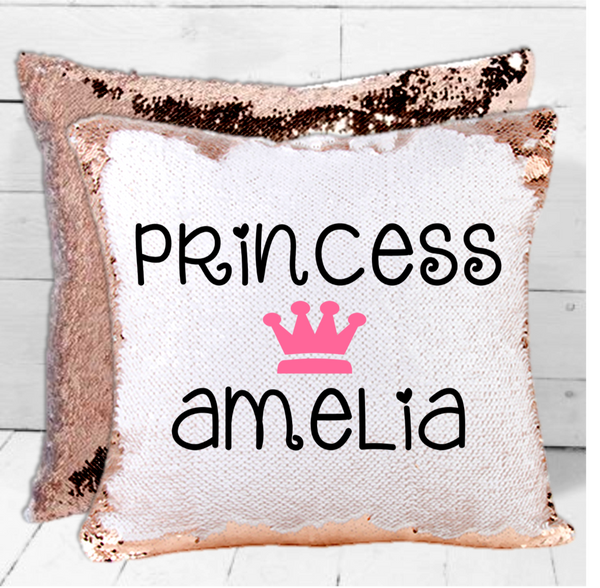 Princess Personalised Sequin Cushion - Mugged Write Off