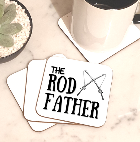 The Rod Father Gin Coaster