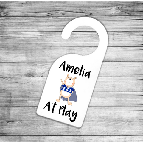 Sailor Bear At Play Personalised Door Hanger - Mugged Write Off