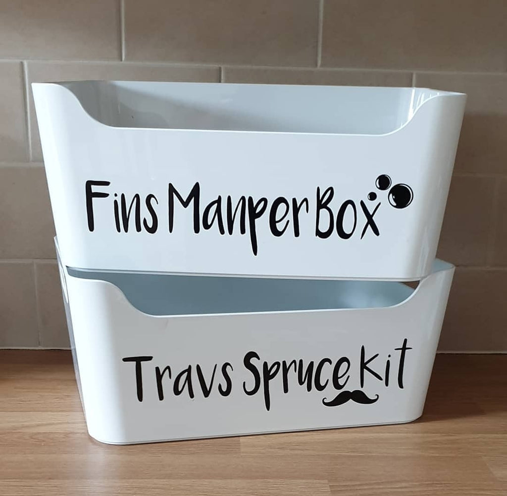 Personalised Bathroom Box For All Your Bits - Mugged Write Off
