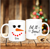 Snow Woman Personalised Christmas - Mugged Write Off