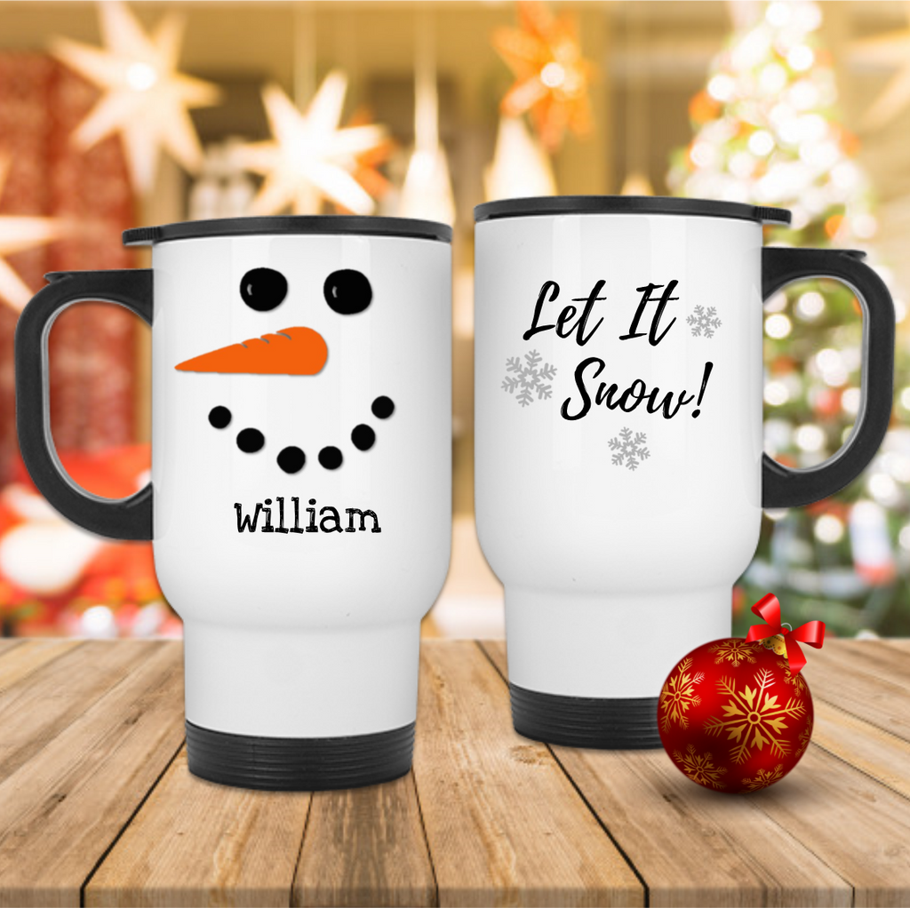 Snow Man Personalised Christmas - Mugged Write Off