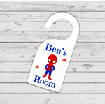 Spiderman Hero Door Hanger - Mugged Write Off