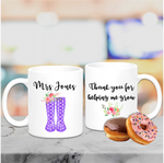 Thank You Teacher Welly Wellington Boot Mug - Mugged Write Off
