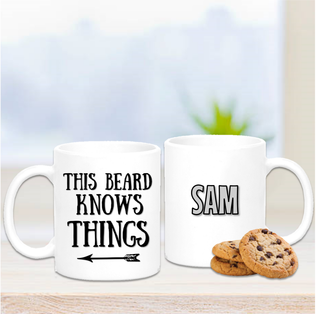 This Beard Knows Things Mug - Mugged Write Off