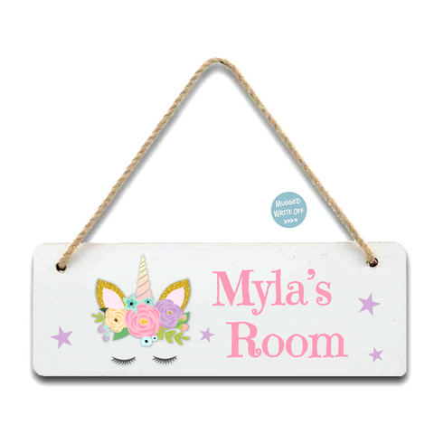 Unicorn Room Sign - Mugged Write Off