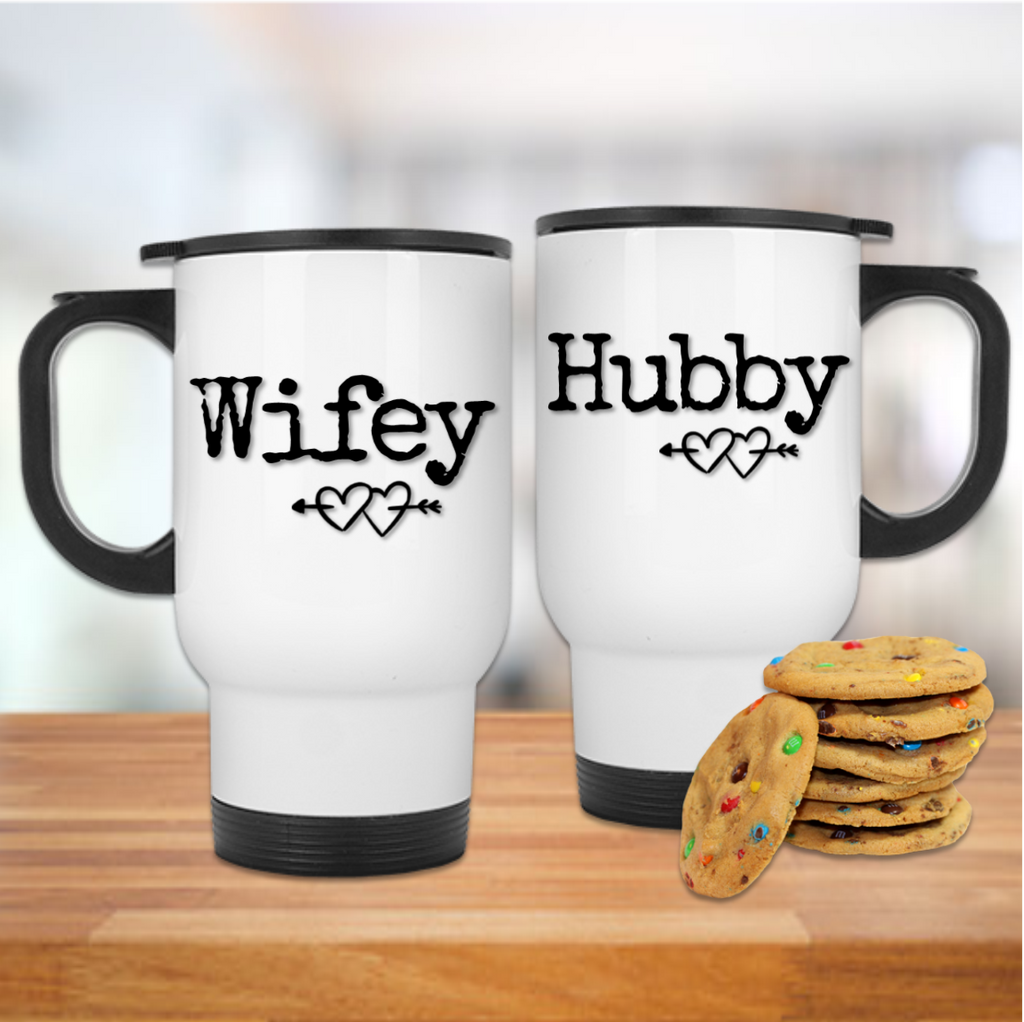 Wifey & Hubby Est Date Mug Set - Mugged Write Off