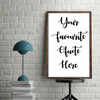 Your Favourite Custom Quote - Create Your Own To Print Download - Mugged Write Off