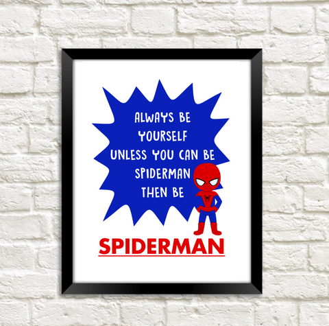 Spiderman SuperHero Print Download - Mugged Write Off